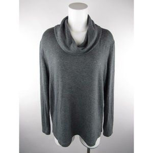 Gap Solid Heather Lobg Sleeve Pullover Sweater